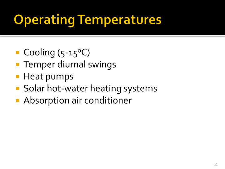 Operating Temperatures