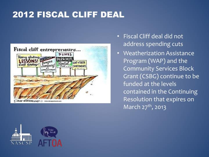 Fiscal Cliff deal did not address spending cuts