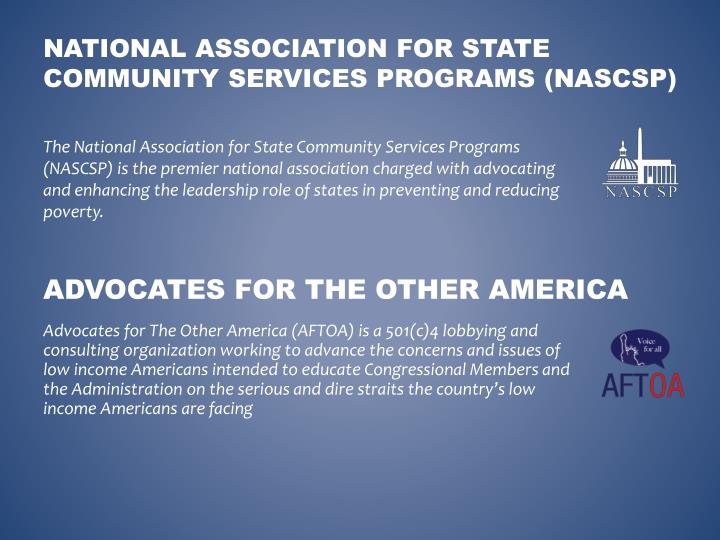 National association for state community services programs nascsp