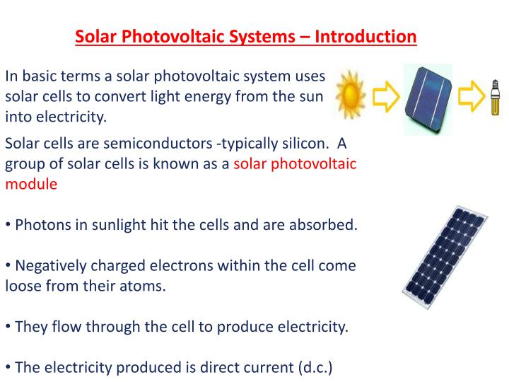 Solar Photovoltaic Systems – Introduction