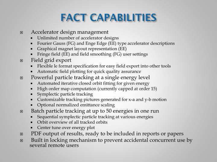 FACT CAPABILITIES