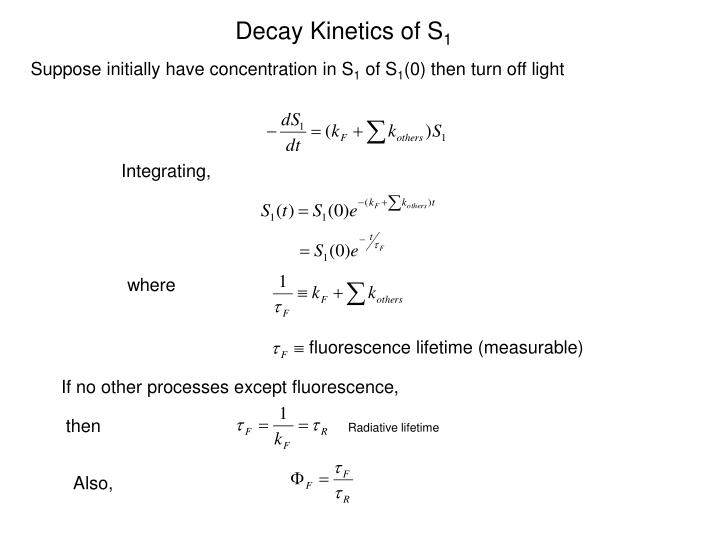 Decay Kinetics