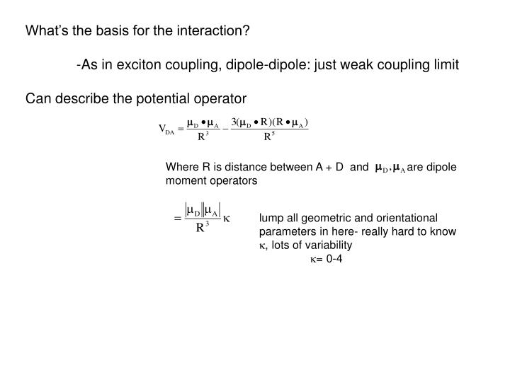 What's the basis for the interaction?