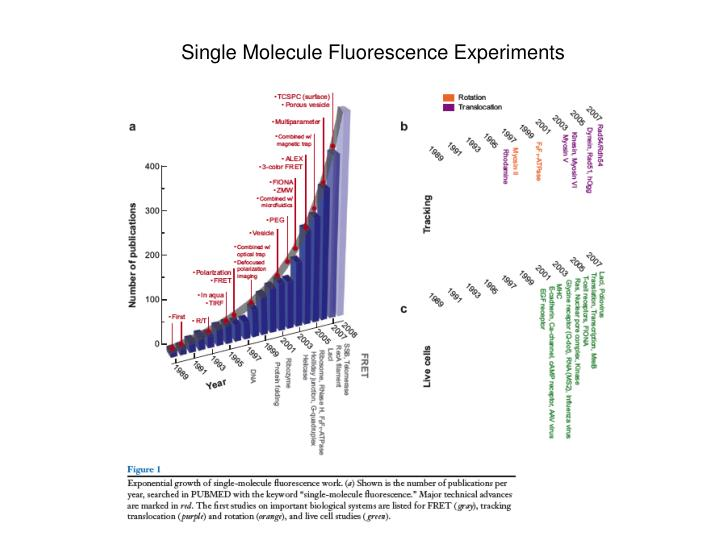 Single Molecule Fluorescence Experiments