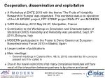 cooperation dissemination and exploitation
