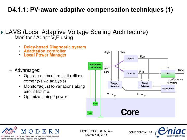 D4.1.1: PV-aware adaptive compensation techniques