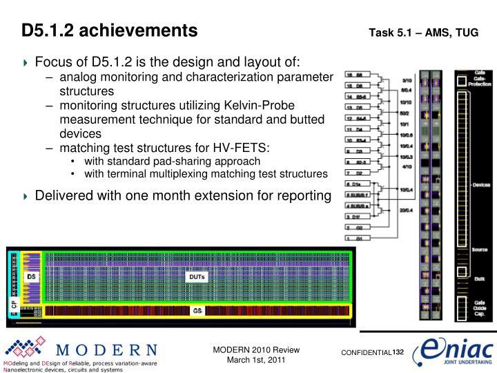D5.1.2 achievements