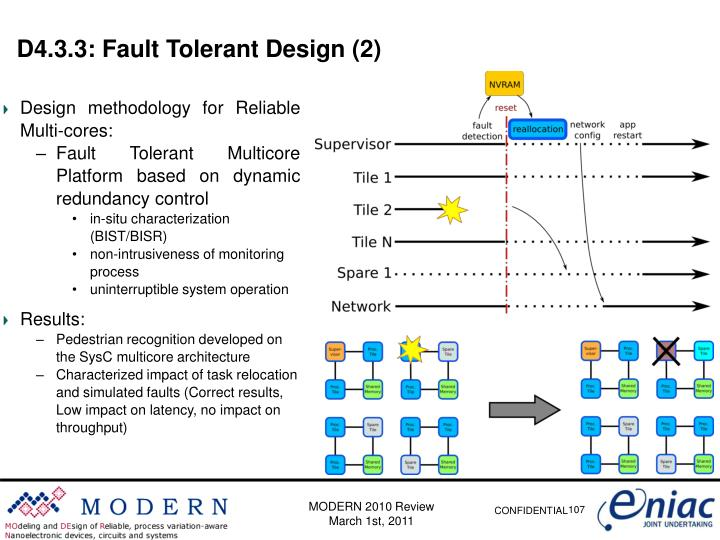 D4.3.3: Fault Tolerant Design (2)