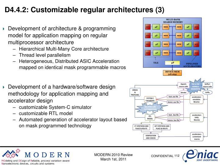 D4.4.2: Customizable regular architectures (3)