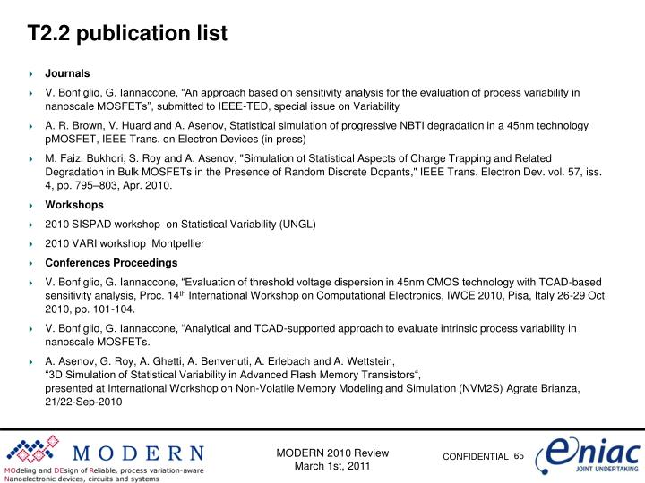 T2.2 publication