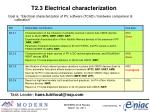t2 3 electrical characterization