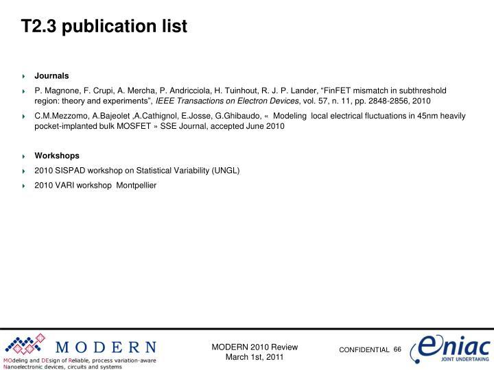T2.3 publication