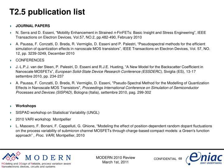 T2.5 publication