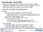 test chip plan owner ifxa