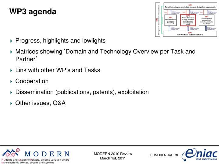 WP3 agenda