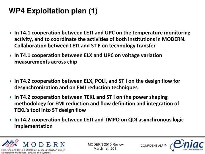 WP4 Exploitation plan (1)