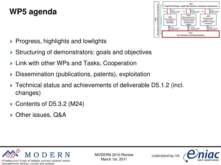 WP5 agenda