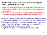 big picture ideas central to understanding and using quantum mechanics