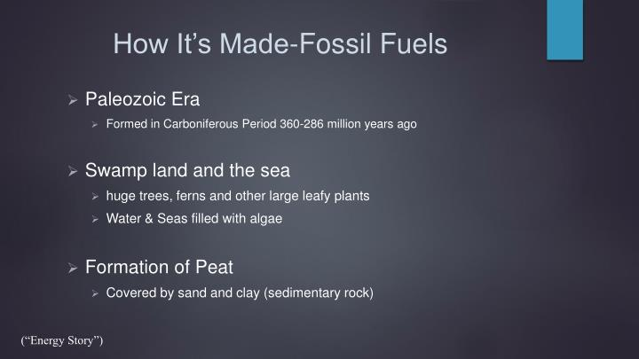 How it s made fossil fuels