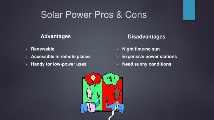 Solar Power Pros & Cons