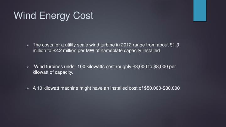 Wind Energy Cost