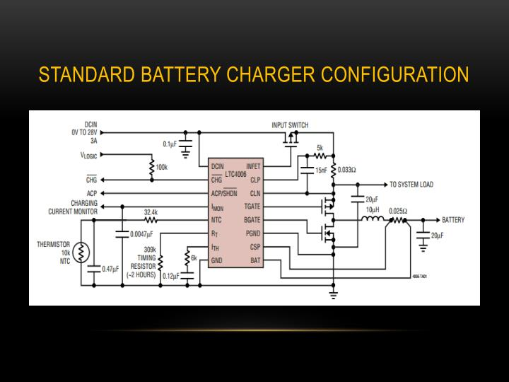 Standard Battery Charger configuration