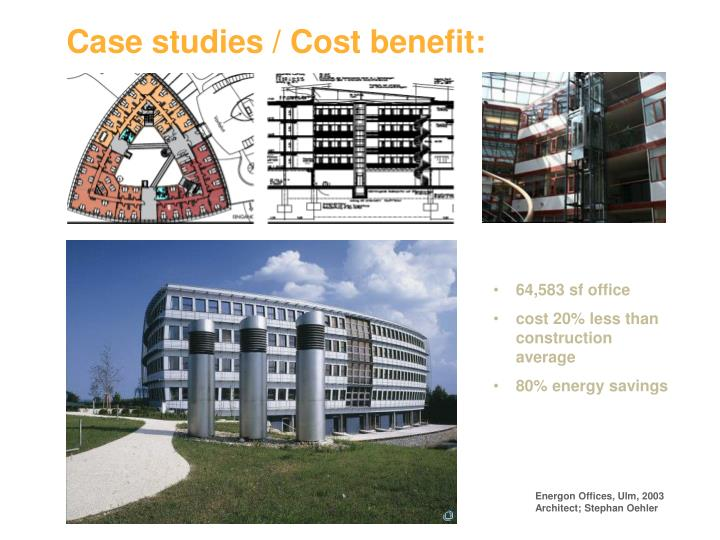 Case studies cost benefit
