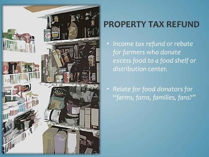Property tax refund