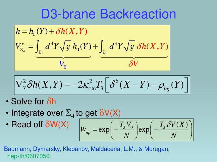 D3-brane Backreaction