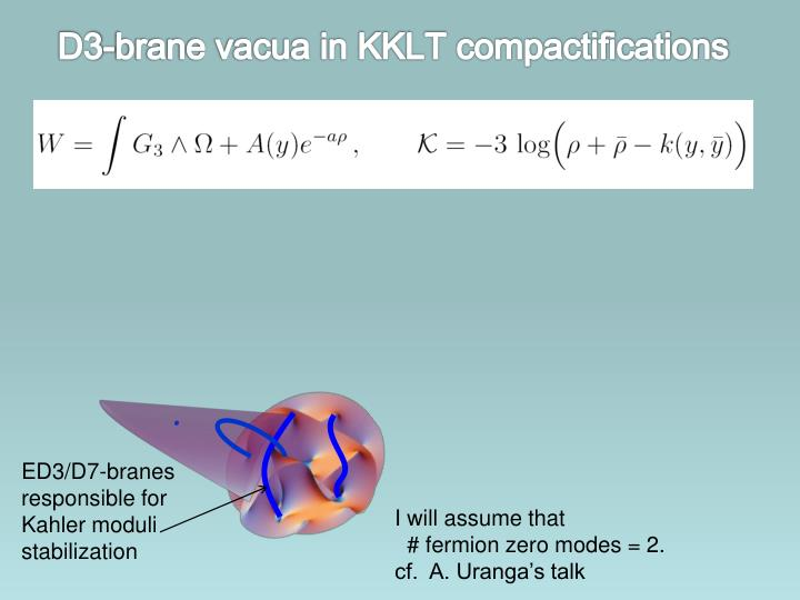 D3-brane vacua in KKLT compactifications