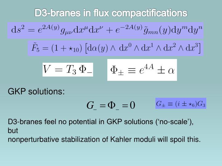 D3-branes in flux compactifications
