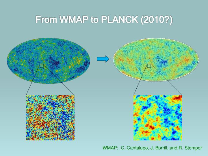 From WMAP to PLANCK (2010?)