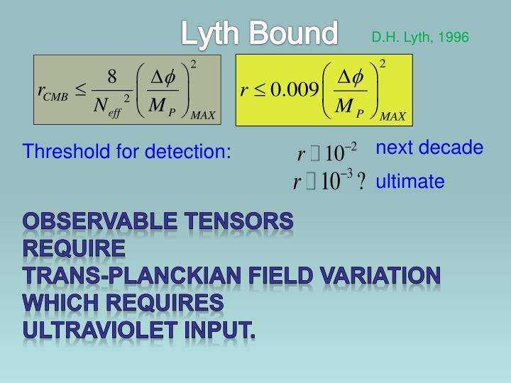 Lyth Bound