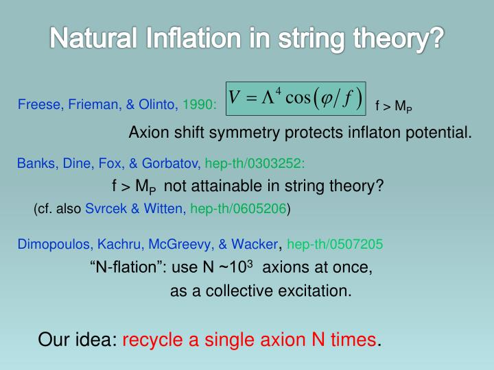 Natural Inflation in string theory?