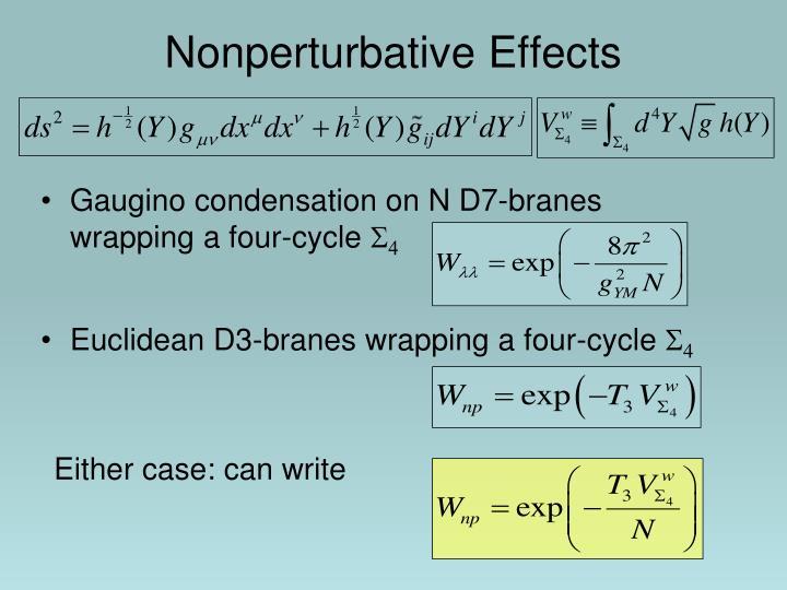 Nonperturbative Effects