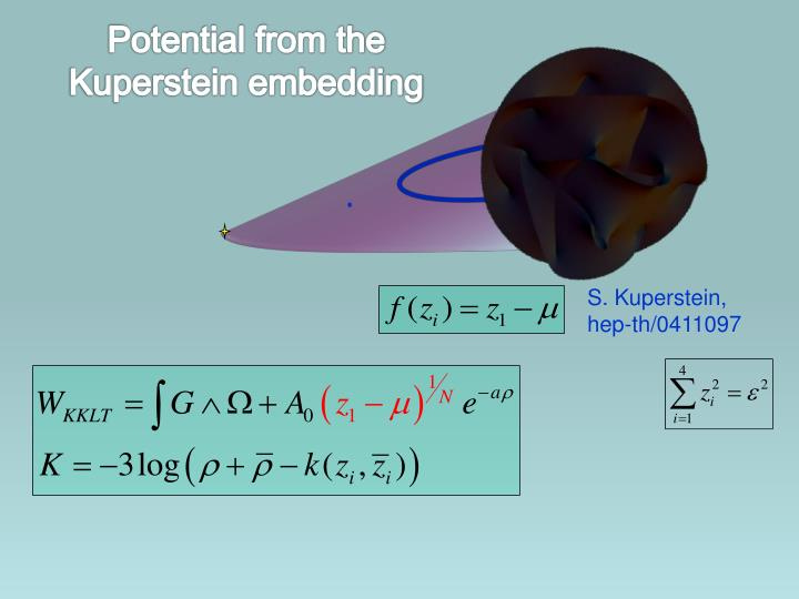 Potential from the Kuperstein embedding
