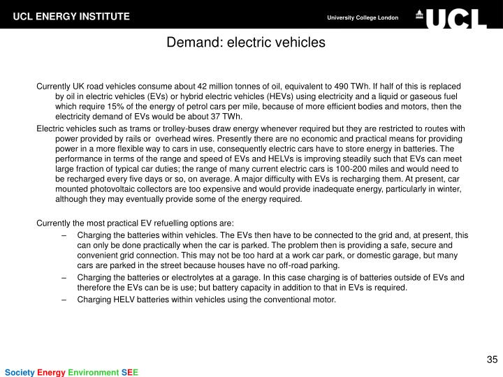 Demand: electric vehicles