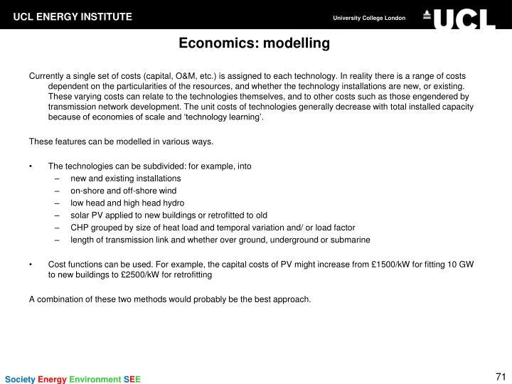 Economics: modelling