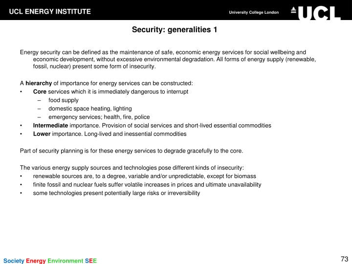 Security: generalities 1
