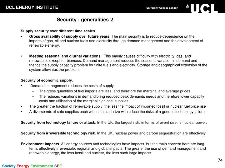 Security : generalities 2