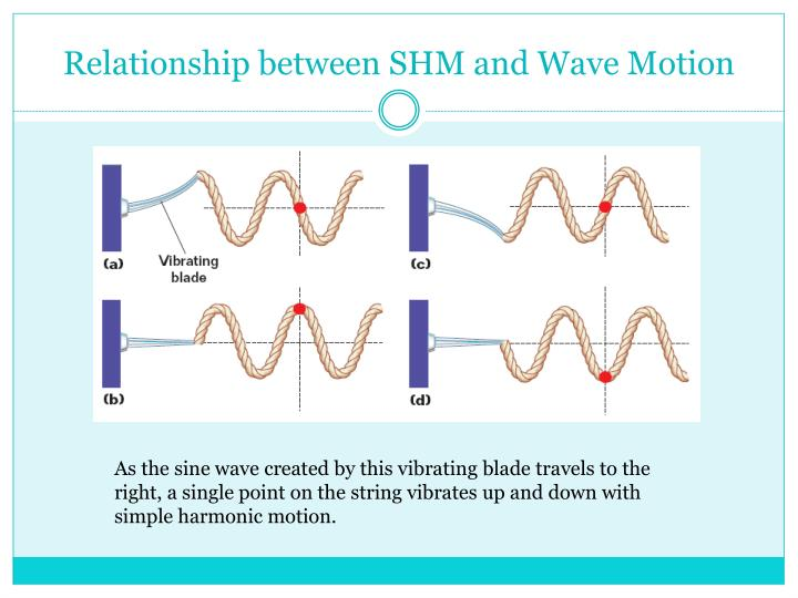 Relationship between SHM and Wave Motion