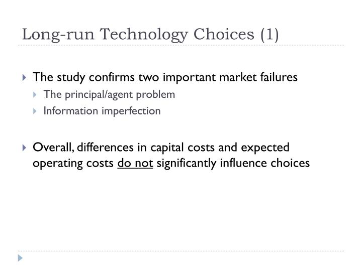 Long-run Technology Choices (1)