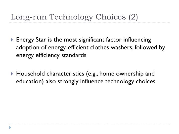Long-run Technology Choices (2)