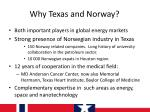 why texas and norway