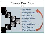 names of moon phase