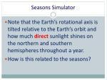 seasons simulator