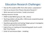 education research challenges