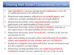 entering med student competencies e1 e8