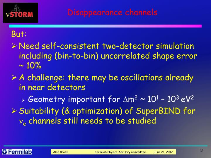 Disappearance channels