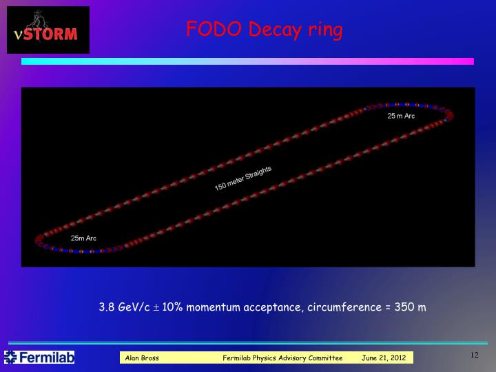 FODO Decay ring
